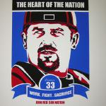 """Jason Varitek"" by Chris Speakman 17"" x 21"" $50 silkscreened prints signed and numbered"