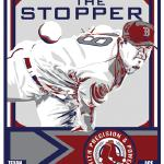 """Josh Beckett"" by Chris Speakman 17"" x 21"" $50 silkscreened prints signed and numbered"