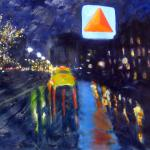"""Citgo in the Rain""  by Tom McCarthy 24"" x 14""   $300.00  limited edition print signed & numbered"