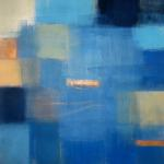 """Blue Below I"" by Ellen Hermanos 32"" x 34"" $2800 acrylic on canvas"