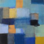 """Blue Below II"" by Ellen Hermanos 32"" x 34"" $2800 acrylic on canvas"